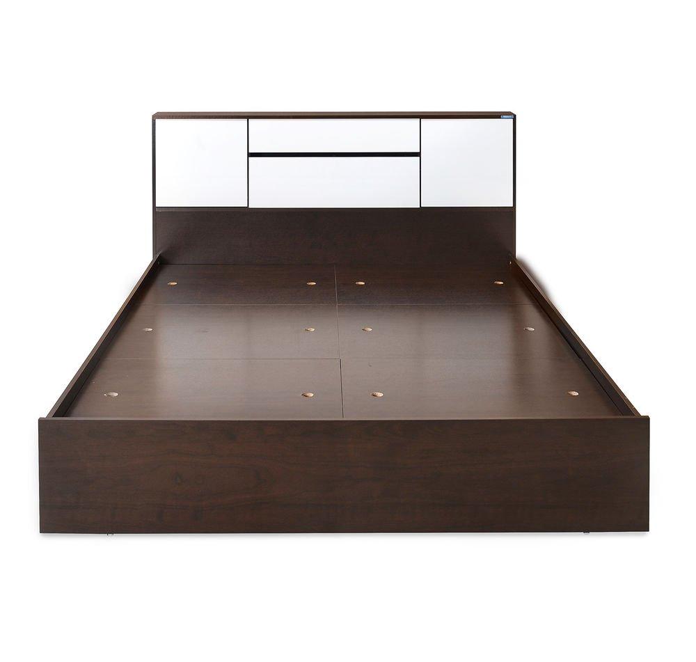 Nilkamal Bedroom Furniture Nilkamal Trendz Double Size Bed With Storage Matt Finish Ivory