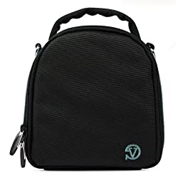 VanGoddy Laurel DSLR Camera Carrying Bag with Removable Shoulder Strap for Pentax K-5 II Digital SLR Camera (Sky Blue)