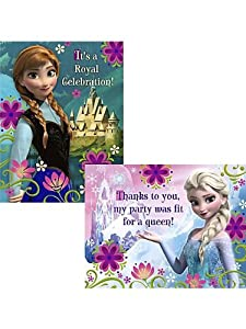 Frozen Invitation and Thank You (8 Invitations & 8 Thank You Postcards) by Hallmark
