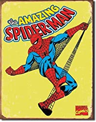 "Spiderman Retro Tin Sign 12.5""W x 16""H"