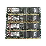 Kingston KVR400D8R3A/1G 1GB PC3200 DIMM DDR-400MHz ECC Reg CL3 184-Pin Memory Pack of 4 (Tamaño: 1 Gb)