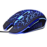 Zytree Gaming Mouse USB Wired Computer Mause With 6 Buttons For Desktop Laptop Changeable Light 1600 DPI Optical Mice Mouse Gamer