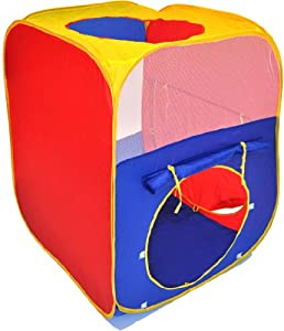 Clearance Hide-N-Seek Rectangle Twist Play Tent w/ Carry Tote by Wonder Tent