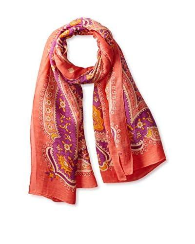 Theodora & Callum Women's Hvar Tie All Scarf, Coral/Multi