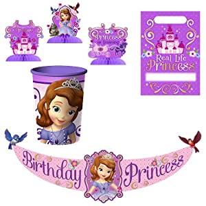 Disney junior sofia the first party for 1st birthday decoration packs