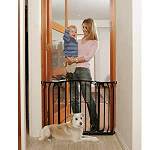 Amazon Com Bindaboo Hallway Pet Gate Swing Closed