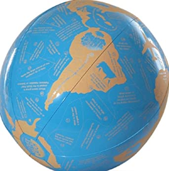 "American Educational Vinyl Clever Catch World Geography Ball, 24"" Diameter"