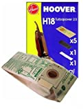 Hoover H18 Dust Bag and Filter Set - pack of 5 - to fit Turbopower 2 / 3 Upright Vacuum Cleaners