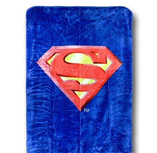 Superman Emblem Twin Size Plush Blanket W/ Area Rug - Dc Comics front-519565