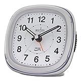 Acctim CK4557 Rosa Metallic Sweep Second Hand Alarm Clock, Silver
