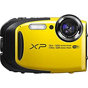Fujifilm FinePix XP80/XP85 Waterproof Digital Camera with 2.7-Inch LCD (Yellow)-(Certified Refurbished)