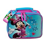 Disney Minnie Mouse Lunch Bag Girls Can Do Anything Insulated Pink Bag with Zipper