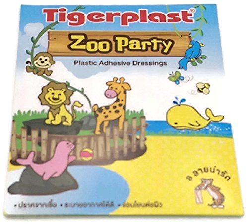 tigerplast-zoo-party-plastic-adhesive-dressings-for-childen-1-pcs-8-strips