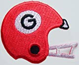 "NCAA Georgia BULLDOGS Football Helmet 2 1/4"" Wide Embroidered PATCH at Amazon.com"