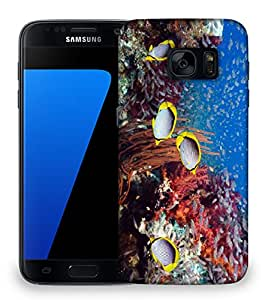 Snoogg Multicolor Fish Designer Protective Phone Back Case Cover For Samsung Galaxy S7