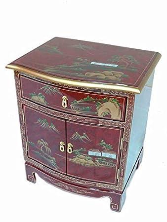 Rojo Lacado Arte Diseño Armario Oriental Muebles China Muebles Arte