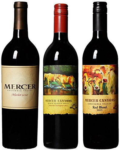 "Mercer Estates ""Respect the Land"" Reds Cab, Merlot, & Blend Mixed Pack, 3 x 750 mL image"