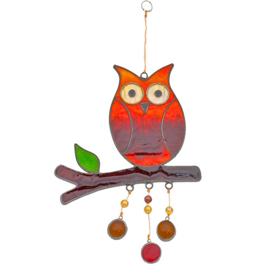 Hanging Owl Suncatcher Resin Garden Decor Ornament
