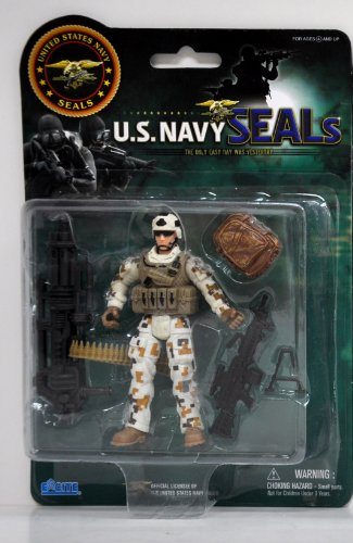 United States Navy Seal Figure with Accessories - Land Gear (styles may vary)