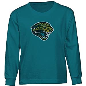 Reebok Jacksonville Jaguars Long Sleeve Boys (4-7) Faded Logo T-Shirt by Reebok