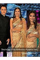 Designer Off white NET Bollywood Replica Saree Sari