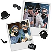 Mustard Hipster Fridge Magnet - Set Of 48 Funny Fridge Magnets With Hipster Designs