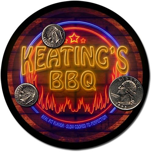 Keating'S Barbeque Drink Coasters - 4 Pack