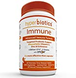Hyperbiotics Daily Immune & Wellness Formula: Probiotics with Bioavailable Vitamin C, Zinc, Echinacea & EpiCor (Saccharomyces Cerevisiae) - Time Release Delivery - 30 Day Supply