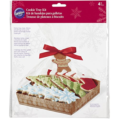 Wilton 1912-5088 4-Count Christmas Holiday Sweet Swap Cookie Tray Kit