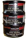 Kirkland Signature Wild Alaskan Sockeye Salmon 3 cans