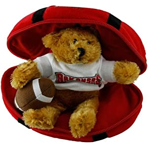 NCAA Arkansas Razorbacks Hidden Plush Bear Football Toy