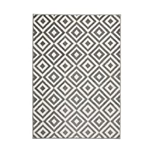 Verona Grey Rug Rug Size: 120 cm x 170 cm (3 ft 9 in x 5 ft 7 in) from Think Rugs