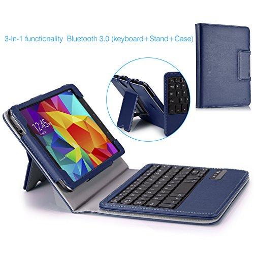Moko Samsung Galaxy Tab 4 8.0 Case - Wireless Bluetooth Keyboard Cover Case For Samsung Galaxy Tab4 8.0 Inch Tablet, Indigo (With Smart Cover Auto Wake / Sleep. Will Not Fit Samsung Galaxy Tab 3 8.0)