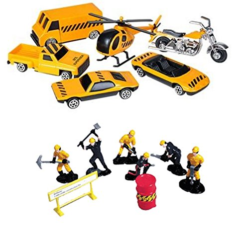 Oasis-Supply-Construction-Vehicle-Playset-Cake-Topper-Kit-3-14-pieces