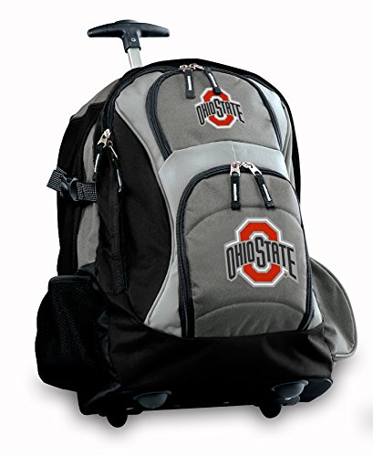 Osu Buckeyes Rolling Backpack Deluxe Gray Ohio State Best Backpacks Bags With W