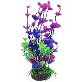 """7.9"""" Fuchsia Green Plastic Fish Tank Underwater Ornament Aquarium Aquatic Plant"""