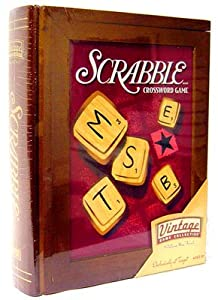 Parker Brothers Vintage Game Collection Wooden Book Box Scrabble