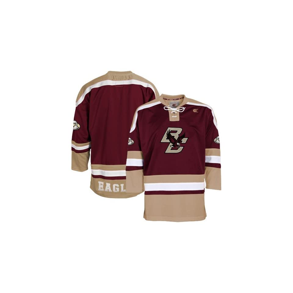 Boston College Eagles Maroon Hockey Jersey (Large) on PopScreen a4ec4fb51