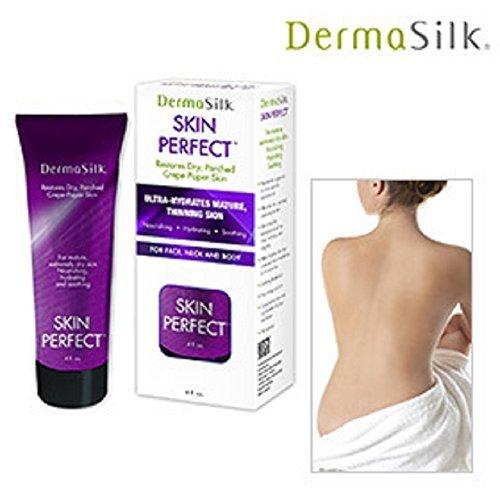 Dermasilk Skin Perfect - Anti Aging Moisturizer Cream Diminishes Wrinkles on Face, Neck & Body 4 oz.