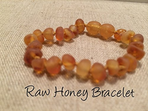 Baltic Amber Teething Bracelet For Babies And Toddlers Raw Honey Certified Authentic. Anti-Inflammatory, Reduction Of Drooling, Red Cheeks, Teething Pain. Highest Quality front-858007