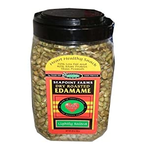 Seapoint Farms Dry Roasted Lightly Salted Edamame ~ 29 Oz Tub (Pack of 2)
