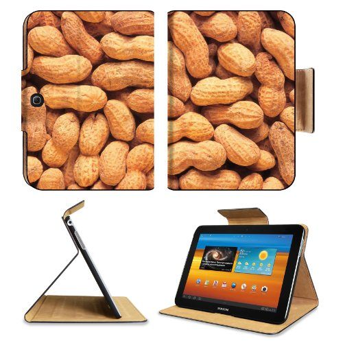 Whole Peanuts Scattered Shells Nuts Samsung Galaxy Tab 3 10.1 Flip Case Stand Magnetic Cover Open Ports Customized Made To Order Support Ready Premium Deluxe Pu Leather 9 7/8 Inch (250Mm) X 7 1/4 Inch (183Mm) X 11/16 Inch (17Mm) Luxlady Galaxy Tab3 Cases front-1081317