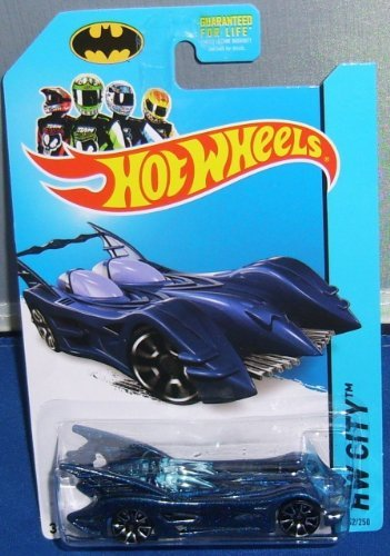 2014 Hot Wheels Hw City - Batmobile [Blue] - 1