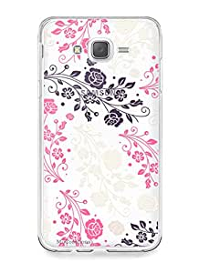 MiiCreations Printed Transparent Crystal Clear Silicon/Soft back cover for Samsung Galaxy J7(2015),Pattern