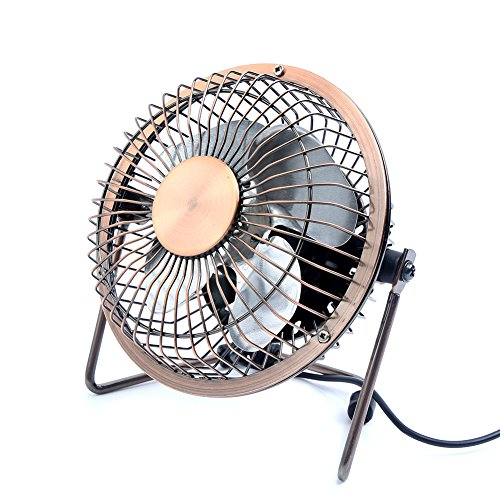 Little Desk Fan : Honeyall usb desk fan metal archaistic tiny house