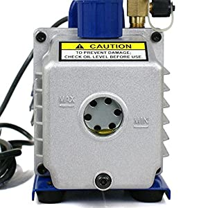 Zeny® 4CFM Electric Vacuum Pump Refrigerant R410a R134a HVAC Deep Vane Air Conditioner (#02) by Zeny