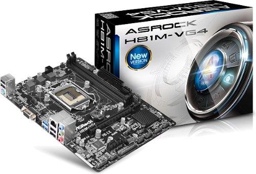 ASRock Mod 1150 H81M-VG4 (H81/ATX) Scheda Madre, Nero