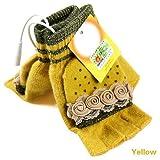 Laptop Womens USB Heated Half & Full Finger Winter Warm Hand Gloves Warmer Wool (Yellow)