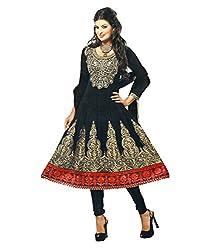 Khazana Women's Unstitched Dress Material (khazana-25-sb-1019_Black_Free Size)