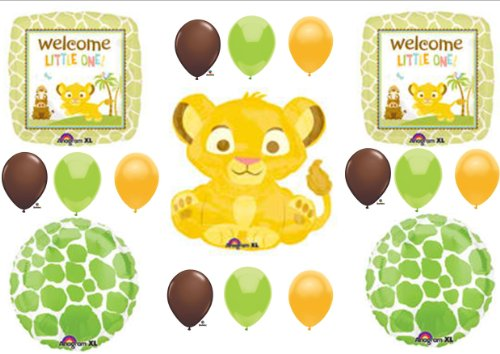 Lion King Welcome Little One Baby Shower Party Balloons Decorations Supplies front-12238